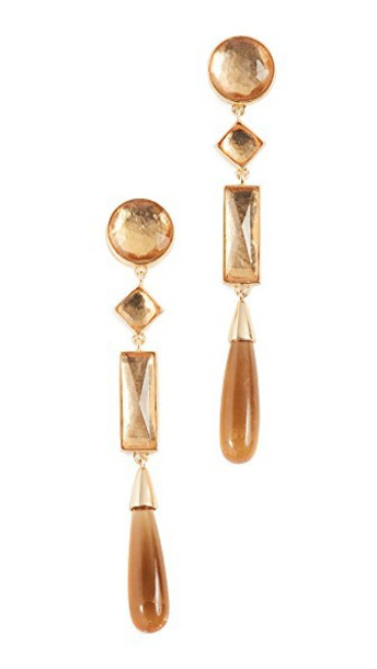 Tory Burch embellished earrings light gold jewels