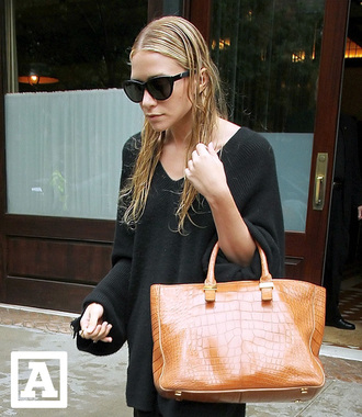 ashley olsen olsen orange bag olsen sisters bag