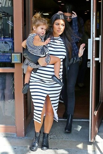 dress kourtney kardashian maternity dress maternity stripes