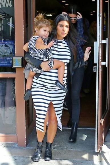 dress kourtney kardashian maternity stripes maternity dress
