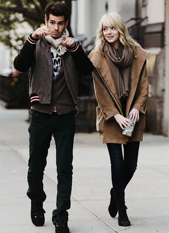 shoes emma stone coat boots ankle boots black boots jacket emma stone fall outfits