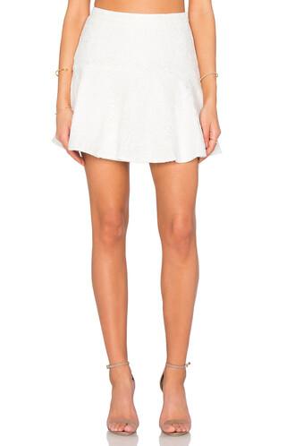 skirt lace skirt chiffon lace black white