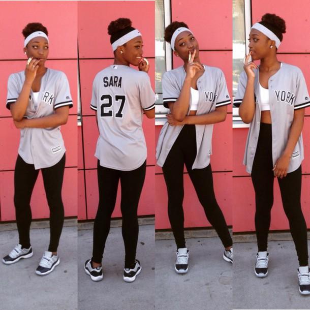 5a0b8c6d6c5 shoes jordan style sportswear jersey leggings urban t-shirt grey navy baseball  tee baseball jersey