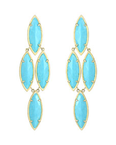 Arminta Turquoise Marquise Earrings