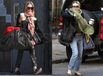 scarf mary kate olsen oversized scarf sunglasses bag