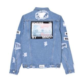 jacket tumblr tumblr outfit denim denim jacket oversized cool grunge alternative