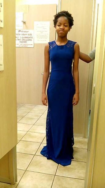 dress royal blue lace dress