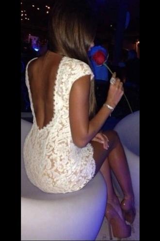 dress dress white lace dress white lace backless dress