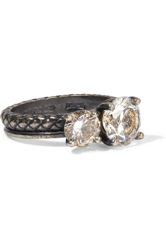 ring silver charcoal jewels
