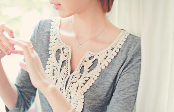gray blouse style chic clothes