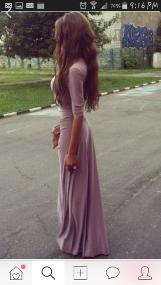 dress pale long dress lavender