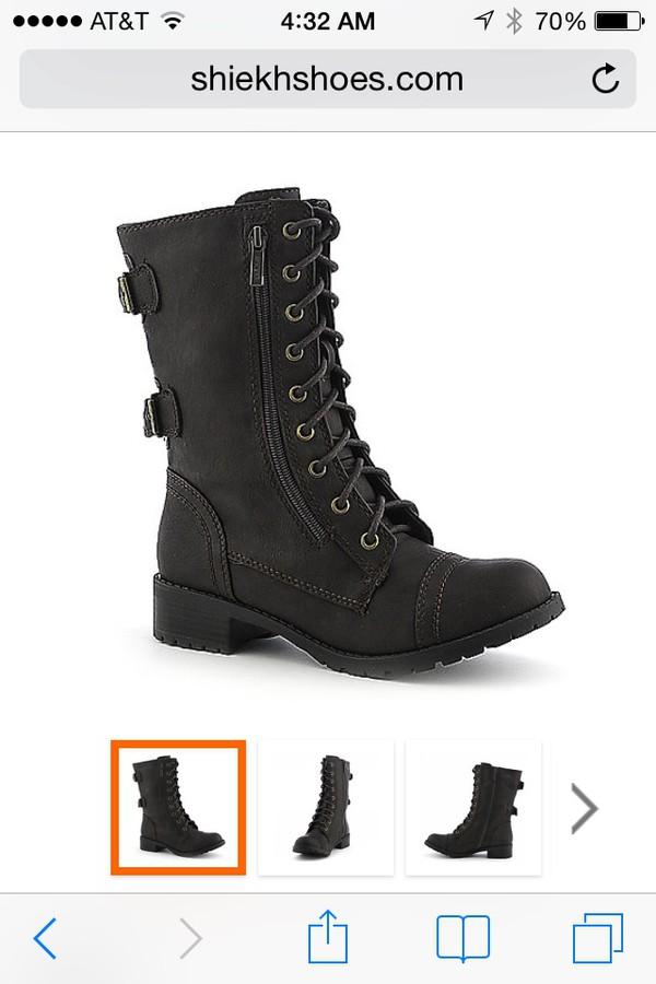 combat boots shoes