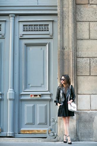 wendy's lookbook blogger dress jacket shoes bag sunglasses jewels