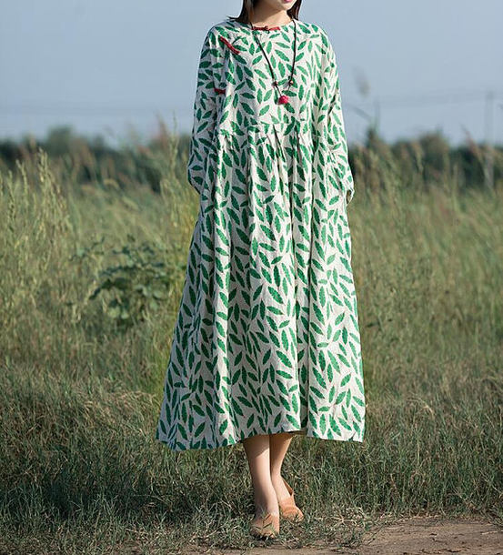 dress long maxi dress green dress