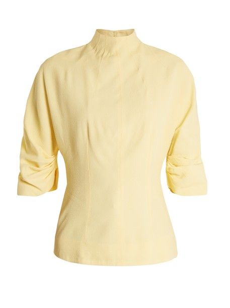 EMILIA WICKSTEAD top back cut-out high light yellow