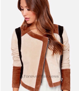 jacket zaful zip trendy brown streetwear style stylish hipster suede jacket