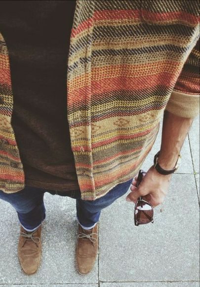 shoes brown shoes t-shirt flannel browns jeans boat shoes