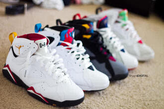shoes white black air jordan cute retro jordans jordan 7 jordans retro 7 gold red blue nike where can i get these shoes