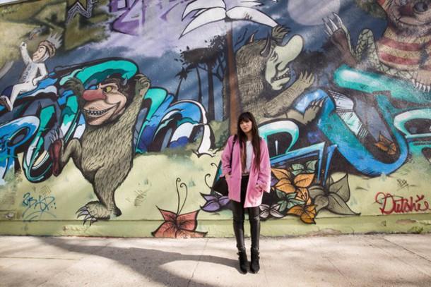 betty blogger pink coat