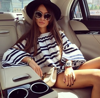 blouse black top white and black shirt classy fashion style