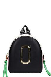 backpack,leather,black,pink,pink leather,bag