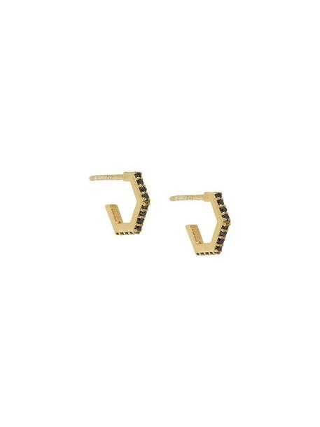 women earrings gold silver black grey metallic jewels