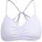 White criss cross back lingerie - sheinside.com