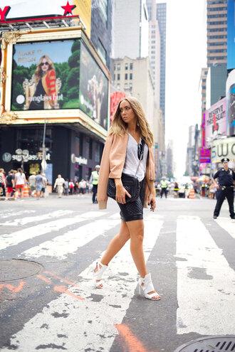 shoes lisa olsson skirt jacket bag blogger