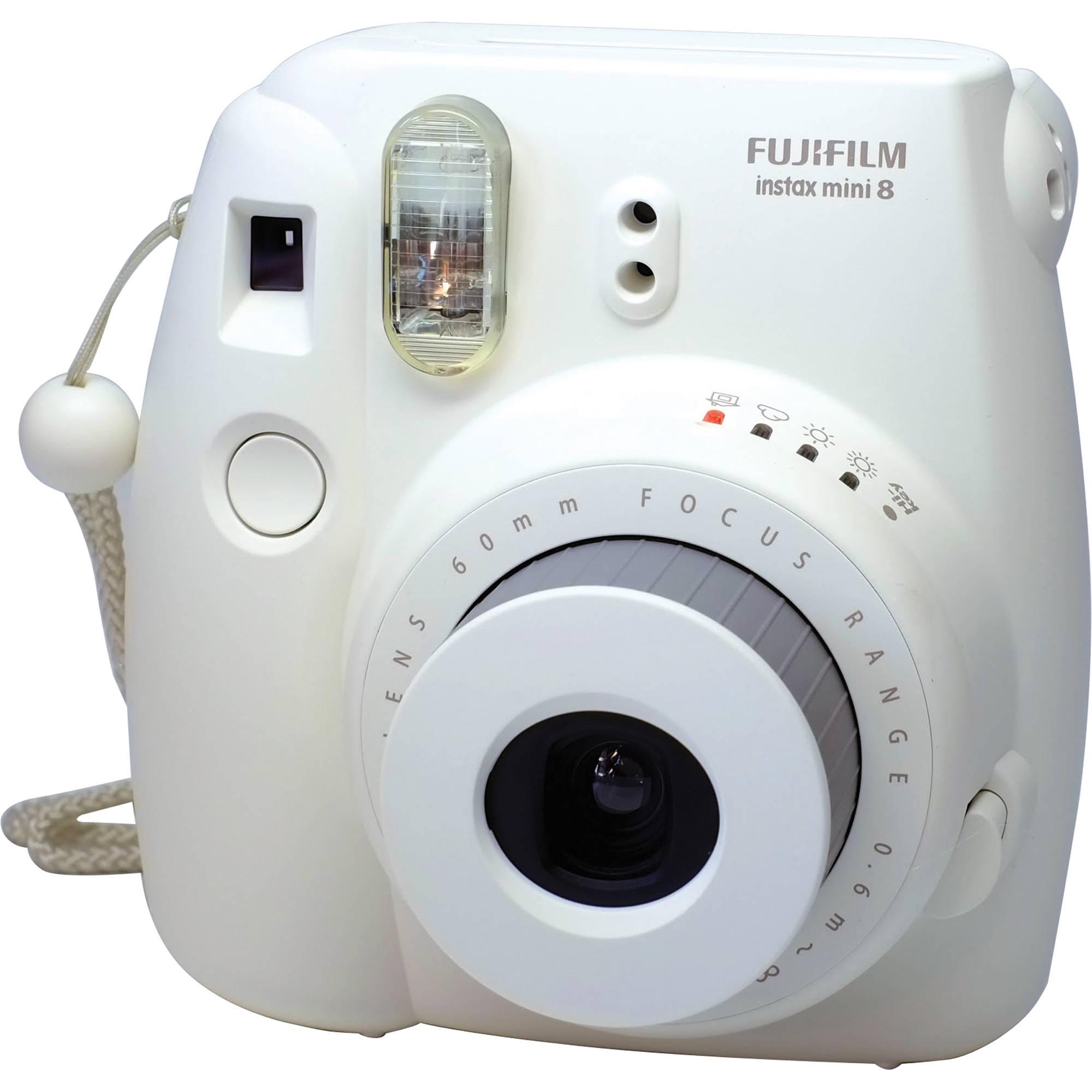Fujifilm INSTAX Mini 8 Instant Film Camera (White) 16273398 B&H