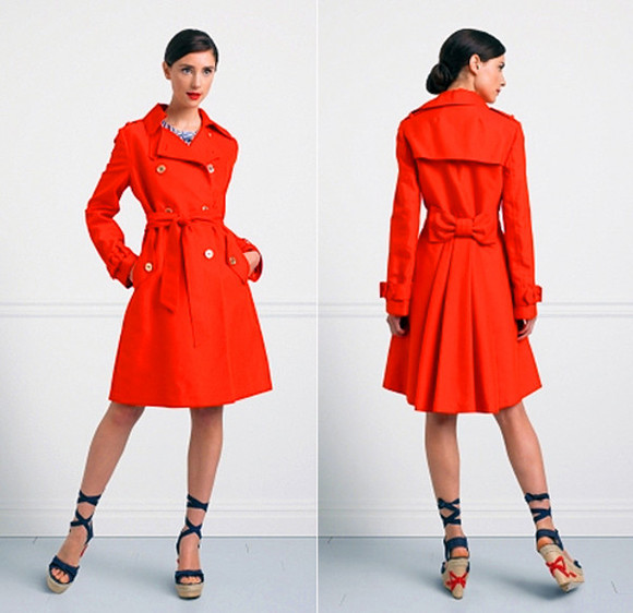 coat trench coat red trendcoat trendcoat bows red coat bow coat red bow long coat