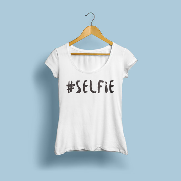 acheter selfie lettres imprimer femmes t shirt coton chemise d contract e. Black Bedroom Furniture Sets. Home Design Ideas