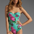 BEACH RIOT The Cold Hearted One Piece in Blue Floral | REVOLVE