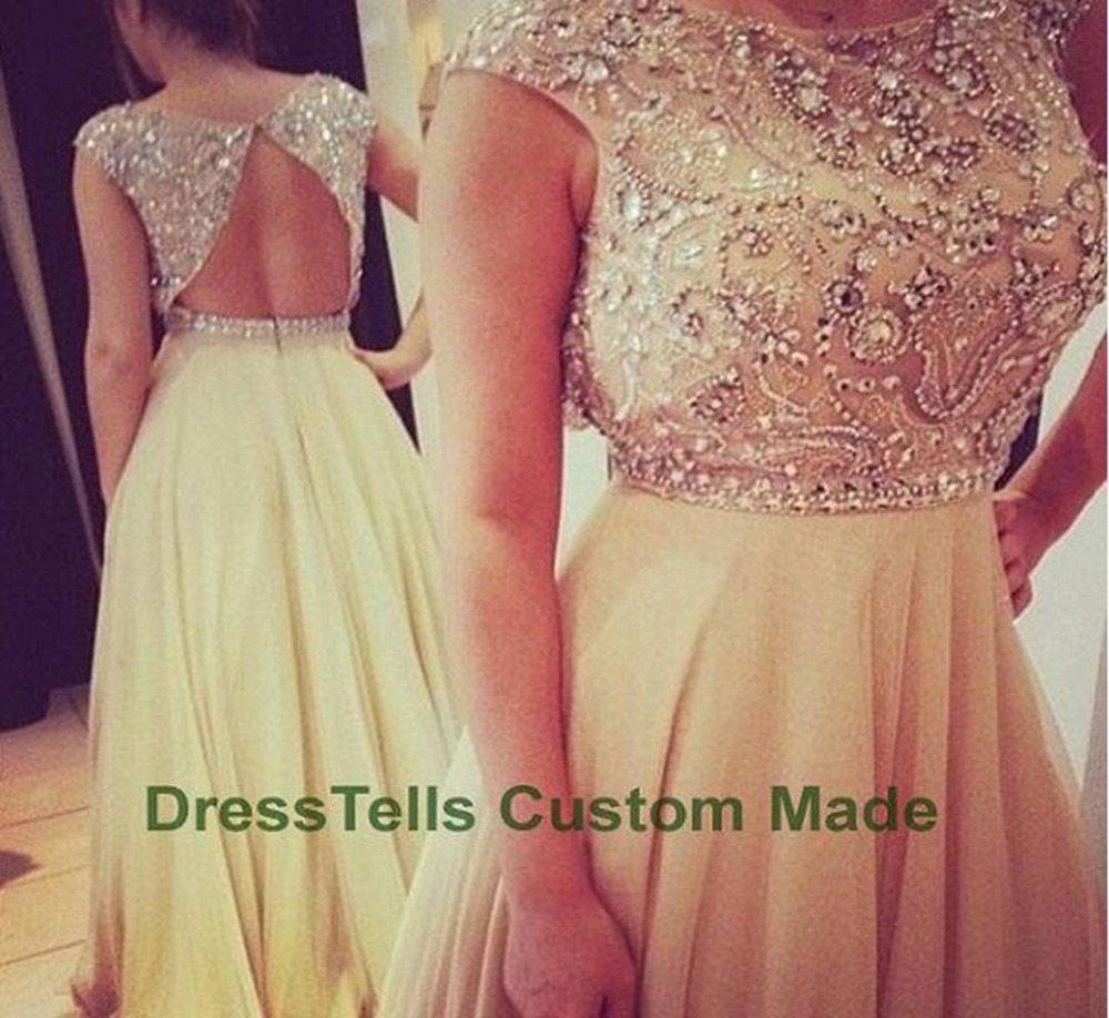 Aliexpress.com : Buy Gorgeous Cheap Bridesmaid Dresses 2015 vestido de festa Stunning Scoop Beading Long Chiffon Bridesmaid Dress With Fast Shipping from Reliable dresses for older women suppliers on DressHome