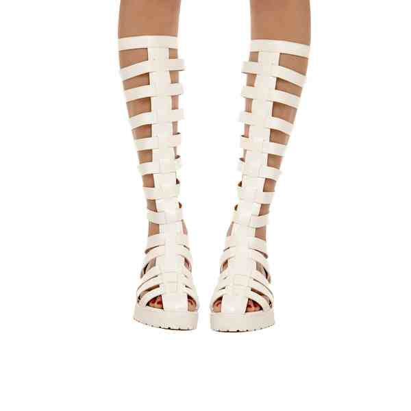 shoes gladiators knee high
