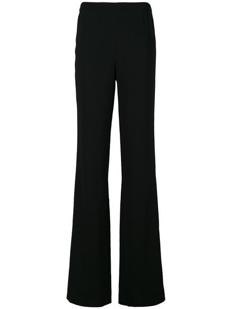 Emilio Pucci - wide leg trousers - women - Viscose/Spandex/Elastane - 42, Black, Viscose/Spandex/Elastane