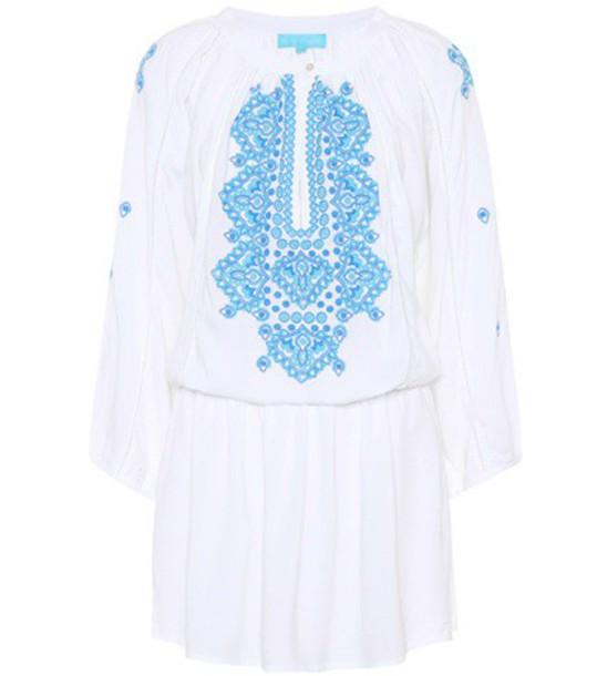 Melissa Odabash dress embroidered dress embroidered white
