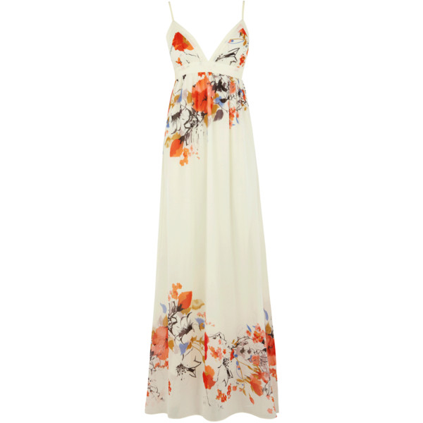 OASIS Flower Print Maxi Dress - Polyvore