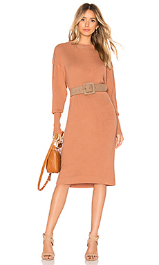 House of Harlow 1960 x REVOLVE Jesse Sweater Dress in Copper from Revolve.com