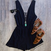 romper,shop priceless,summer romper,summer outfits,bohemian,vanessa hudgens,cute romper,boho,rompers women,women fashion for summer,bohemian style clothing for summer,ootd summer,ootd,sandals,necklace,sunglasses
