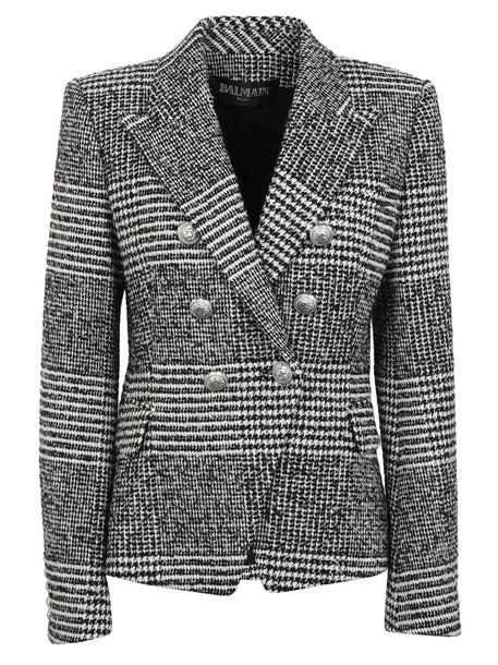 Balmain blazer houndstooth jacket