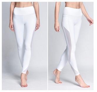 leggings white leggings fitness fitness pants gym gym leggings gym clothes fitness gym fashion fit workout leggings mesh leggings