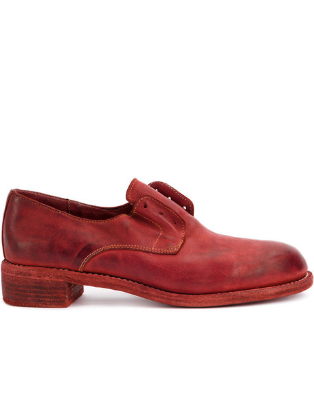 Guidi heel women leather red shoes