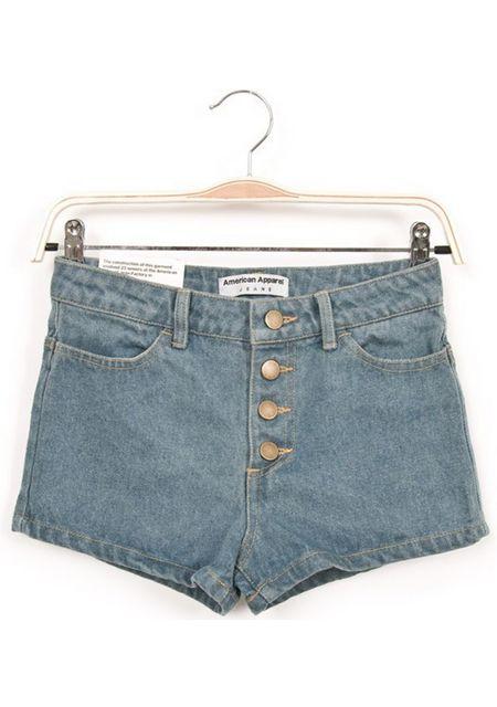 Women's washing 4 button slim fit denim shorts online