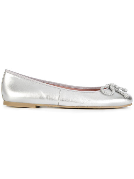 PRETTY BALLERINAS high women leather grey metallic shoes