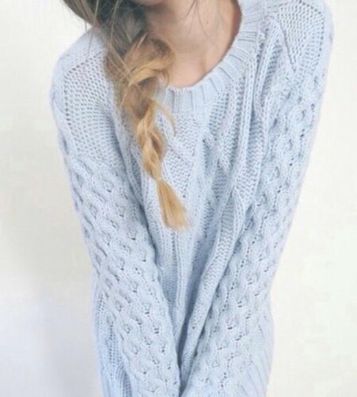 blue sweater pastel sweater jumper kawaii grunge