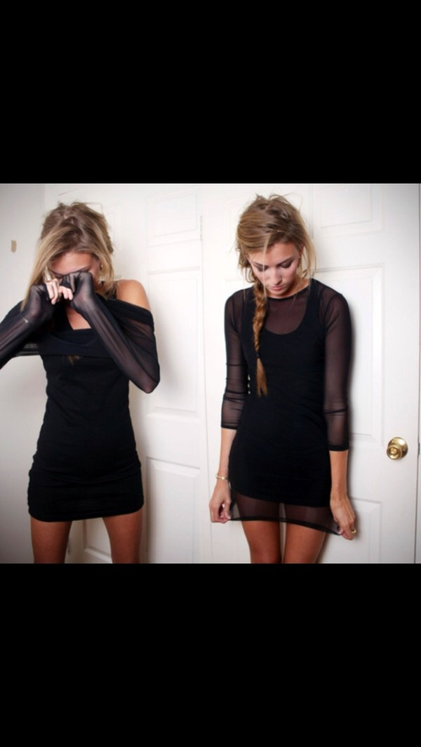 dress little black dress black girly cute black dress short dress