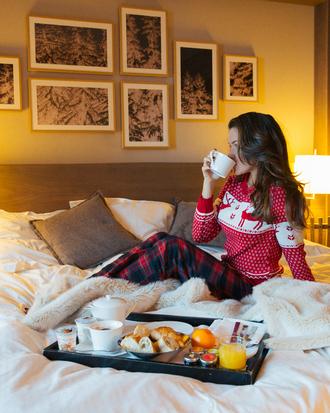 pajamas tumblr bedding bedroom pillow christmas pajamas christmas holiday season