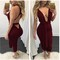 Fall bodycon lined dress