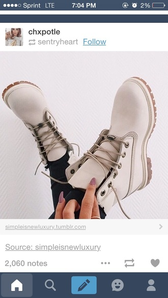 shoes boots cream tan timberlands boots drmartens