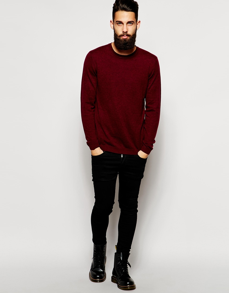 ASOS Merino Crew Neck Jumper at asos.com